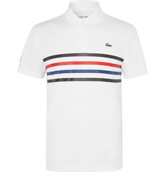 Lacoste Tennis - Striped Piqué Tennis Polo Shirt