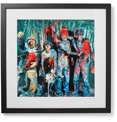 "Sonic Editions - Framed Stone Roses Paint, Manchester Print, 17"" x 21"""
