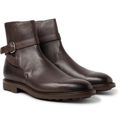 Edward Green - Gresham Buckled Textured-Leather Boots