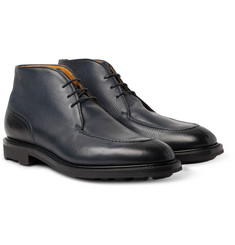 Edward Green - Halifax Cross-Grain Leather Chukka Boots