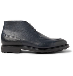 Edward Green Halifax Cross-Grain Leather Chukka Boots