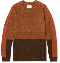 Folk - Panelled Wool and Cotton-Blend Sweater