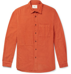 Folk Fragment Slim-Fit Cotton-Corduroy Shirt