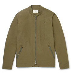 Folk Tech Slim-Fit Cotton-Blend Shell Bomber Jacket