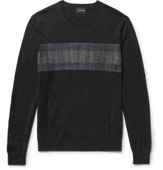 Club Monaco Slim-Fit Felt-Panelled Merino Wool Sweater