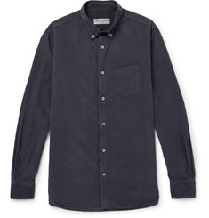 Officine Generale Benoit Button-Down Collar Cotton-Corduroy Shirt