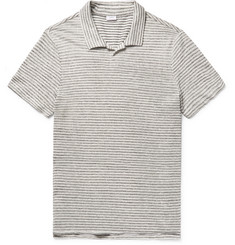 Onia - Shaun Slim-Fit Striped Slub Linen and Cotton-Blend Polo Shirt