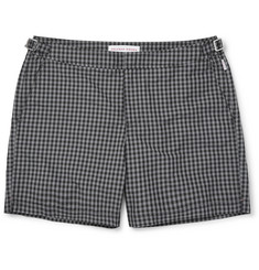 Orlebar Brown - Bulldog Mid-Length Gingham Swim Shorts