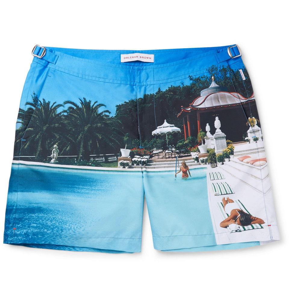 Bulldog Mid-length Printed Swim Shorts - Multi