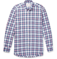 Our Legacy - Button-Down Collar Checked Cotton-Flannel Shirt