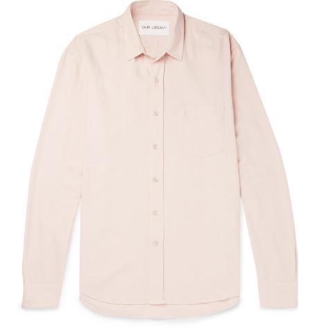 Slub Silk Shirt - GreenOur Legacy Sneakernews Bon Marché jeRxaVDIY