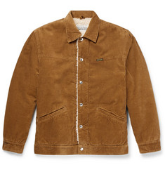 Wacko Maria Faux Shearling-Lined Cotton-Corduroy Coach Jacket