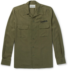 Wacko Maria - Camp-Collar Embroidered Woven Shirt