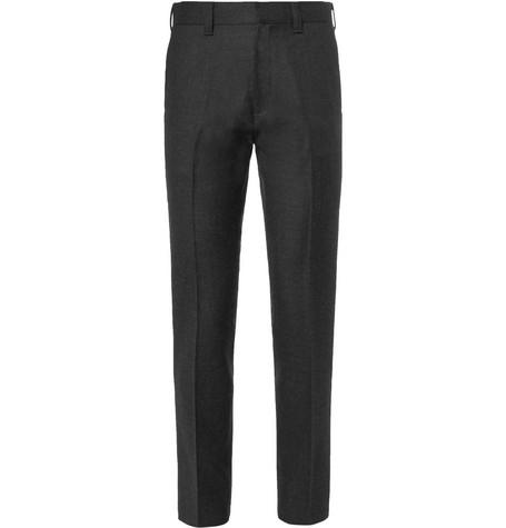 Wacko Maria Kurt Slim-fit Wool-twill Trousers - Charcoal uzGrLKh