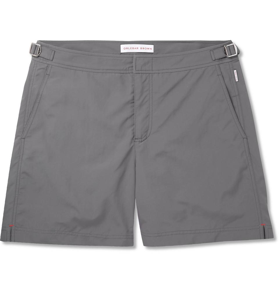 Bulldog Mid-length Swim Shorts - Dark gray