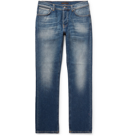 Grim Tim Slim-fit Organic Stretch-denim Jeans - Mid denim