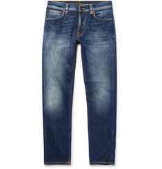 Nudie Jeans Lean Dean Skinny Tapered Organic Stretch-Denim Jeans