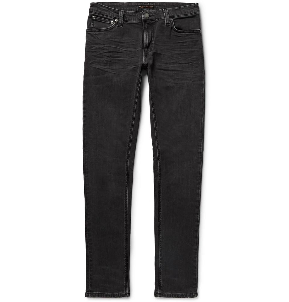 Skinny Lin Organic Stretch-denim Jeans - Black