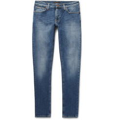 Nudie Jeans - Lin Skinny Tapered Organic Stretch-Denim Jeans