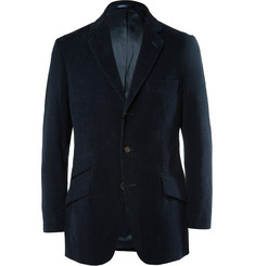 Cordings - Midnight-Blue Slim-Fit Corduroy Blazer