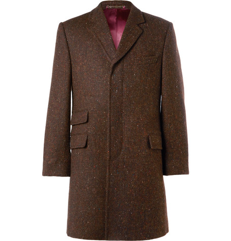 Hebden Donegal Wool Coat - Brown