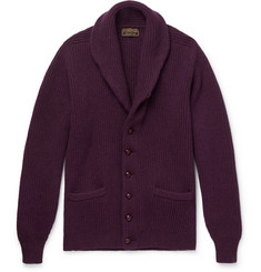 Cordings - Shawl-Collar Ribbed Wool Cardigan
