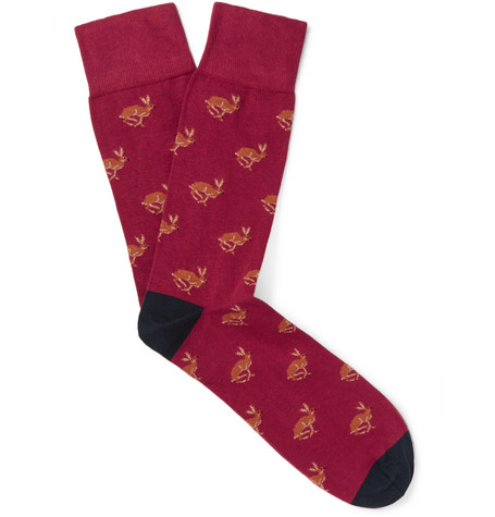 cordings male rabbitpatterned cottonblend socks