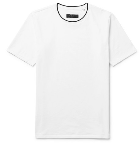 Drake Contrast Trimmed Cotton Jersey T Shirt by Rag &Amp; Bone