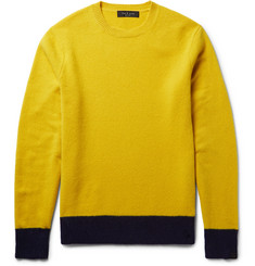 rag & bone Two-Tone Shetland Wool-Blend Sweater
