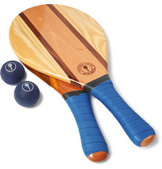 Frescobol Carioca - Trancoso Wooden Beach Bat and Ball Set
