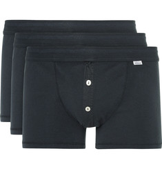 Schiesser Karl Heinz Three-Pack Cotton-Jersey Boxer Briefs