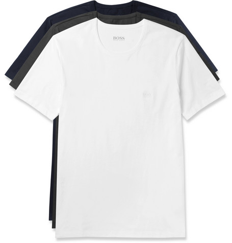 f806ee541502 Hugo Boss - Three-Pack Cotton-Jersey T-Shirts