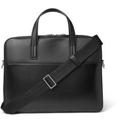 Hugo Boss - Focus Panelled-Leather Briefcase