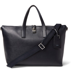 Hugo Boss Timeless Textured-Leather Holdall