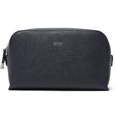 Hugo Boss Timeless Textured-Leather Wash Bag