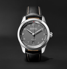 Bremont - Airco Mach 2 40mm Stainless Steel and Leather Watch