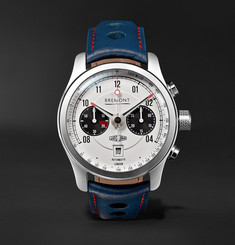 Bremont MKII Jaguar 43mm Stainless Steel and Leather Watch