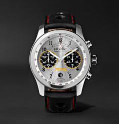 Bremont - Norton V4 Automatic Chronometer 43mm Stainless Steel and Leather Watch