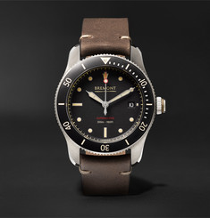 Bremont - Supermarine Type 301 Automatic Chronometer 40mm Stainless Steel and Leather Watch