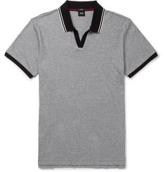 Hugo Boss Slim-Fit Contrast-Tipped Pima Cotton-Piqué Polo Shirt