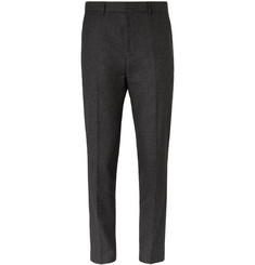 Hugo Boss Charcoal Pirko Slim-Fit Cotton-Blend Trousers