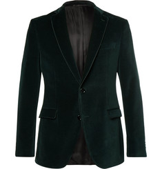 Hugo Boss - Green Remon Slim-Fit Cotton-Velvet Tuxedo Jacket