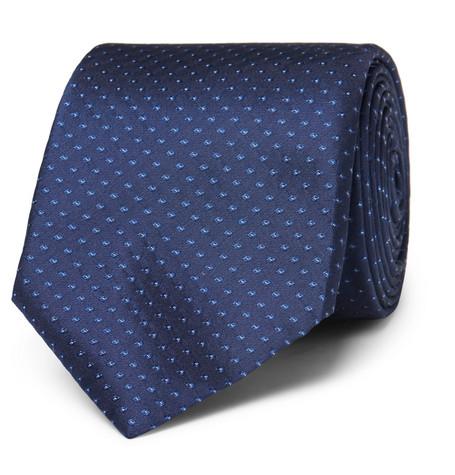 Broches Cravate De Points Dans Le Patron De Soie Jacquard ple381P46W