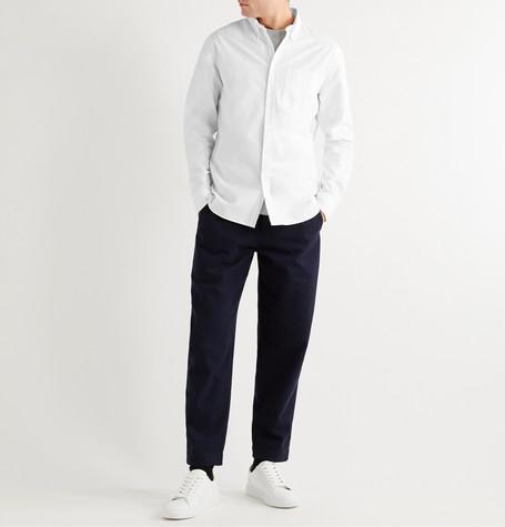 d702445f404e0d Mr P. - Button-Down Collar Cotton Oxford Shirt