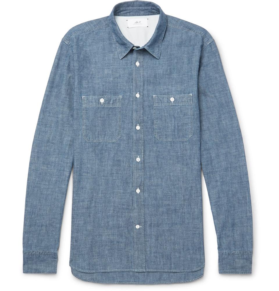 Mr P. Selvedge Cotton-Chambray Shirt