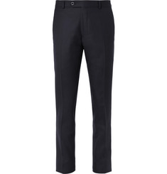 Mr P. Navy Worsted Wool Suit Trousers