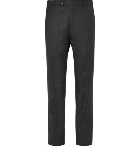Grey Worsted Wool Trousers by Mr P.