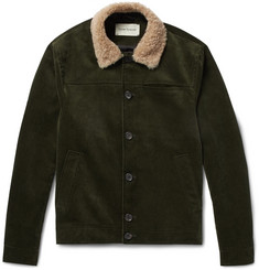 Oliver Spencer - Shearling-Trimmed Cotton-Corduroy Jacket