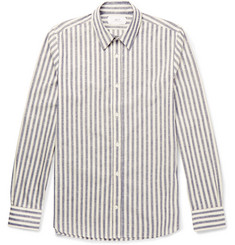 Mr P. Slim-Fit Striped Slub Cotton Shirt