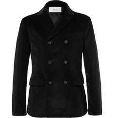 Mr P. - Black Double-Breasted Cotton-Corduroy Blazer
